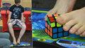 Patnáctiletý Dalibor: Rubikovu kostku skládá nohama za 2 minuty a 9 vteřin