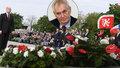 Po potupě premiéra na Hradě Zeman vynechal pietu na Vítkově. Kvůli Sobotkovi?