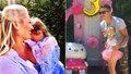 Lucie Borhyová s Michalem Hrdličkou slavili každý zvlášť třetí narozeniny své dcery Lindy.
