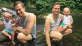 Martin Chodúr v tílečku a trenýrkách: Se synem dováděli v řece