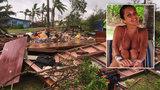 Superbouře Winston: Rodina ji přežila v kredenci, z domu zbyly jen trosky