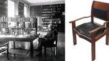 Masarykovo křeslo vydražili za víc než milion. Dražba startovala na 150 tisících