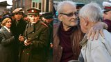 """Dojemné loučení: Ovdovělý """"major Zeman"""" Brabec (82) objímal starého kamaráda"""