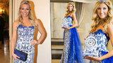 Cibulákové šaty po Borhyové jdou do světa: Upravené je vyveze miss Hávová