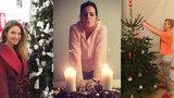 Vánoční šílenství slavných: Ornella a Solaříková kašlou na make-up, Verešová podléhá trendům