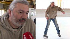 Obr na bruslích! Dan Hůlka váží přes 100 kilo
