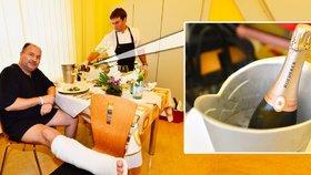 Nadstandardní pacient Michal David: Dopřává si oběd za 25 tisíc korun!