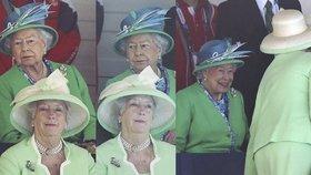 Uhni, nevidím! Naštvané královně ve výhledu stínil obří klobouk