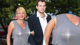 Fantom podprdy? Svobodová dráždila na premiéře v průsvitných šatech