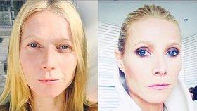 Nenalíčená Gwyneth Paltrow: Jak se vám líbí?