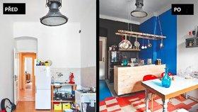 Proměna kuchyně: Nová linka za tisícovku, prokoukly i stůl a okno