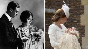 Královské křtiny! Charlotte ve stejných šatech jako princezny před 173 lety
