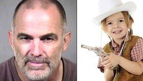 """Děda nechal s pistolí vnučku v poušti. """"Zlé lidi střílej,"""" poradil jí"""
