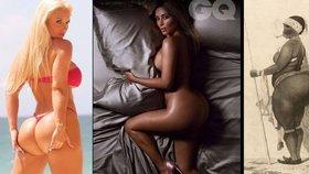 MEGA zadky znovu frčí! Kim Kardashian a Coco Austin vystavují svá pozadí stejně jako hotentotská Venuše ve staré Anglii