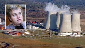 Atomová lady šije do ČEZ: Temelín i Dukovany musí zlepšit kontroly reaktorů