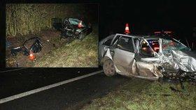 Vánoční smrt za volantem: Dvě škodovky se srazily u Jičína