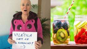 """""""Rakovinu plic mi vyléčily ovocné šťávy,"""" tvrdí Marcela. Doktoři tomu nevěří"""