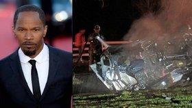 Oscarový herec vytáhl muže z hořícího auta: Nejsem žádný hrdina, tvrdí Jamie Foxx