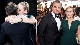 Jako za starých časů v Titanicu: Leo DiCaprio a Kate Winslet si na SAG Awards padli do náruče
