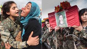 Češky na pohřbu mučednic. Bojovnice padly v přestřelce s Islámským státem