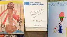 Pindíci, kam se podíváš: Ty nejnevhodnější malby od dětí
