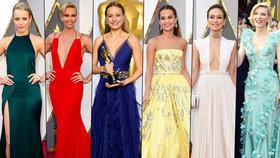 """Rozparky až """"ke krku"""", superhluboké výstřihy a holá kůže: Tyhle šaty bodovaly na Oscarech!"""