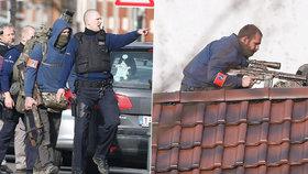 Drama v Bruselu: Zranění policisté, mrtvý střelec, další utekl po střechách