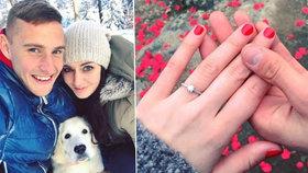 Tereza Chlebovská se zasnoubila: Česká Miss 2012 řekla ano fotbalistovi Pavlu Kadeřábkovi