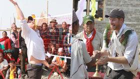 Jaké trenky nosí princ Harry? V Nepálu to ukázal nadšeným davům!