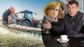 """Česko podpoří """"rakovinový"""" pesticid. """"Kvůli Agrofertu,"""" zlobí se poslankyně"""