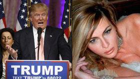 Na Trumpa vytáhli nahé fotky jeho ženy. Ten s odplatou nečekal dlouho