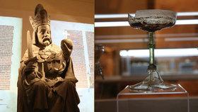 Unikátní výstava Karla IV. v Akademii věd: S čím si hrál, z čeho pil a čím platil