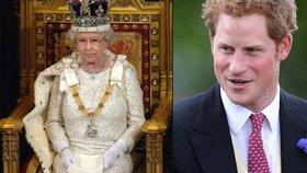 Princ Harry o královně Alžbětě II: Je pro mě spíš šéfka než babička!