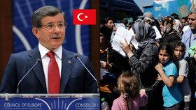 Turecko s uprchlíky vydírá EU: Chceme bezvízový styk do června, dá-li Alláh