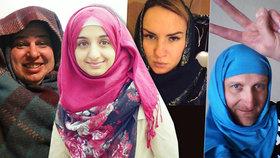 """""""Je suis Eman."""" Lidé se šátky vyjadřují podporu muslimce z Teplic"""