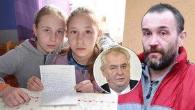 Bránil své dcery, jde do kriminálu: Holky prosí Zemana o milost pro tátu