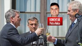 Komentář: Zeman po teroru straší likvidační válkou. A nemyslí pražskou kavárnu