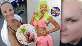 Jak měnili v Tváři Ivu Pazderkovou v Nicki Minaj: Přilepené oči páskou a vycpaný zadek!
