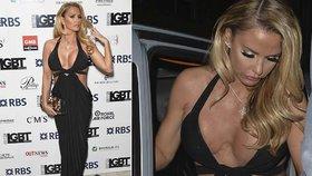 """Modelka Katie Price vystavila na odiv své zjizvené """"melouny"""""""