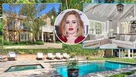 Zlato v hrdle i v pokojích! Podívejte se do nového domu Adele za 230 milionů