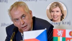 Miloš Zeman bere Valachovou na milost: Dávám jí ještě rok...