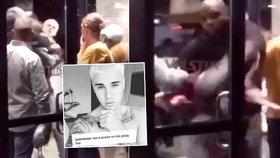 Justin Bieber se porval, k zemi letěl po pár vteřinách