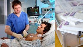 Nejdražší pacient v Česku stál 55 milionů: Podívejte se na astronomické výdaje zdravotních pojišťoven