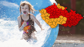 Rtuť v teploměrech míří k 34 °C: Česko se rozpaluje, lékaři varují před kolapsy