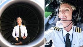 Sexy pilotka Maria motá mužům hlavy, chlapi z ní mají hlavu v oblacích
