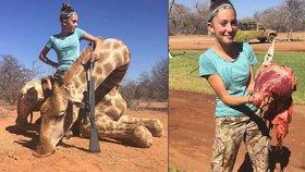 """""""Vyrvala"""" žirafě srdce. Dětská lovkyně se chlubí trofejemi z Afriky"""