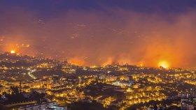 Požáry na Madeiře překazily Čechům výlety. Cestovky ale zájezdy neruší