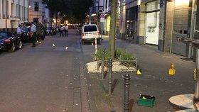Střelba a útok nožem v Kolíně nad Rýnem zranily člověka. Násilníci prchají