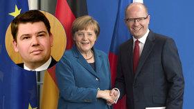 Pospíšil: Couvat před Merkelovou je chyba. Ekonom: Jsme na Němcích závislí