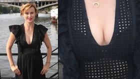 Dokonalá Jitka Schneiderová: Herečka se pochlubila luxusním výstřihem